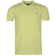 Kangol Slim Fit férfi galléros póló zöld XL
