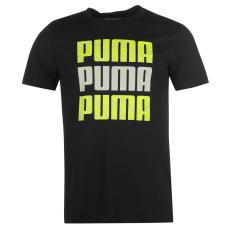 Puma L Logo QTT férfi póló fekete S