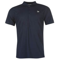 Dunlop Performance galléros férfi tenisz póló tengerészkék XS