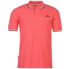 Slazenger Tipped férfi galléros póló pink 4XL