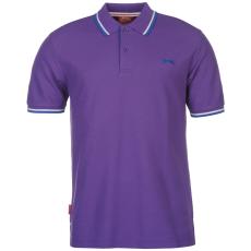 Slazenger Tipped férfi galléros póló lila 4XL
