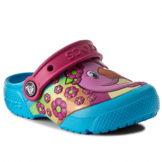 CROCS Papucs CROCS - Crocsfunlab Clog 204119 Flamingo/Electric Blue