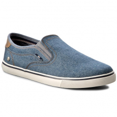 Wrangler Teniszcipő WRANGLER - Mitos Slip On Denim WM171023 Denim 102