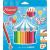 """MAPED Színes ceruza készlet, háromszögletű, vastag, MAPED """"Jumbo"""", 18 különböző szín"""