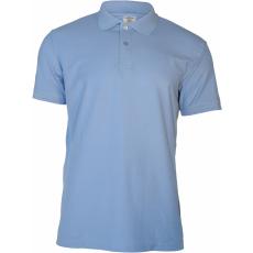 KEYA férfi galléros piké póló, light blue