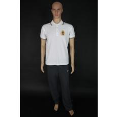 Harcos férfi galléros pamut póló