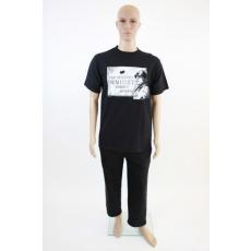 Feliratos fekete férfi póló