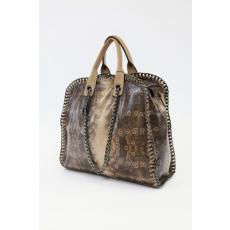 Barna színű női láncos táska