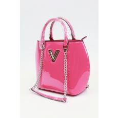 Pink színű lakk alkalmi női táska