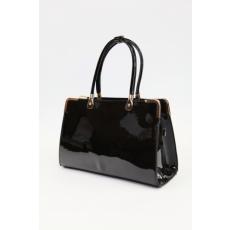 Fekete lakk női alkalmi táska (ridikül)