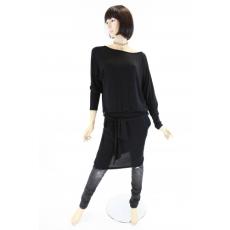 Fekete női felső / ruha derékban megkötős
