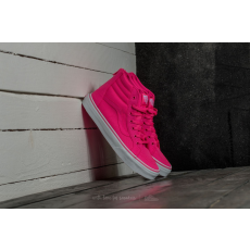 Vans Sk8-Hi Zip (Neon Canvas) Pink/ True White