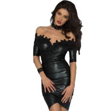 Csakcsajok Fekete vállpántos koktél ruha