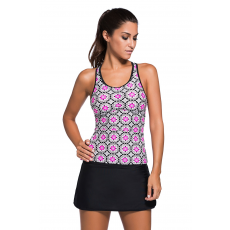 Csakcsajok Abstract Print tankini
