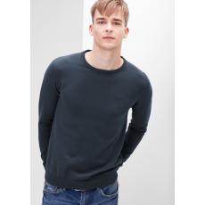 S.OLIVER Férfi kötött pulóver kerek nyakkal sötétkék