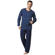WADIMA Férfi pizsama gombos csíkos