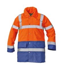 Cerva SEFTON kabát HV narancssárga/royal XXL