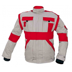 Cerva MAX kabát szürke / piros 50