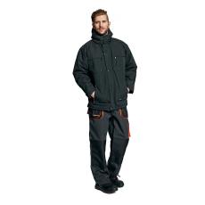 AUST EMERTON téli kabát fekete/narancs XXL