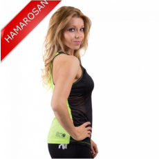 MARIANNA TANK TOP - BLACK/NEON LIME (BLACK/NEON LIME) [S]