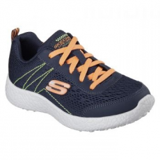 Skechers Burst-Second Wind gyerek sportcipő, Blue/Orange, 33 (97300L-NVOR-33)