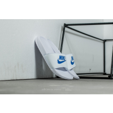 Nike Benassi JDI White/ Varsity Royal-White