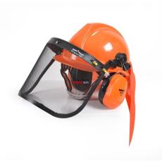 Hecht 900100 védősisak fülvédővel és rostéllyal gyors csatlakoztatás CE