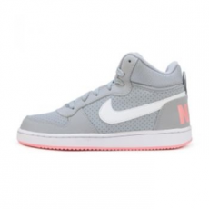Nike Court Borough Mid gyerek sportcipő, Wolf Grey/White, 38.5 (845107-001-6y)