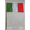 Olasz zászló 15x25cm, 40cm-es műanyag rúddal