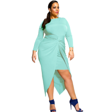Aqua plus size ruha