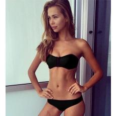 Fekete neoprene bikini-Small