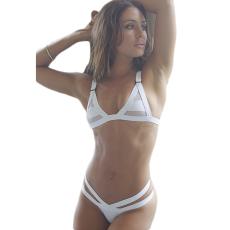 Fehér Sexy Áttetsző Bikini-Medium