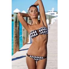 Gyémánt mintás Pántnélküli Bikini-Large