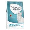 Concept for Life 12 x 85 g Concept for Life Sensitive Cats aszpikban - - száraztáphoz kiegészítés