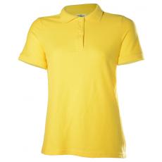 KEYA galléros Női piké póló, sárga (Keya galléros Női piké póló, 100% pamut piké anyag, 180g/m2.)