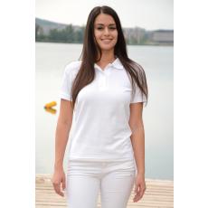 KEYA galléros Női piké póló, fehér (Keya galléros Női piké póló, 100% pamut piké anyag, 180g/m2.)