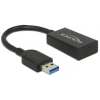DELOCK USB 3.1 USB 3.1 Type C Átalakító Fekete 15cm 65698