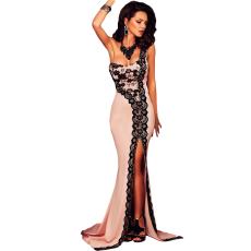 Fekete félvállas mermaid ruha