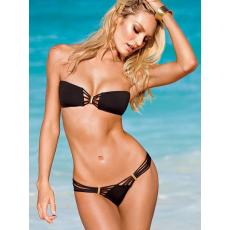 Csakcsajok Fekete Pántnélküli Bikini-Medium