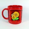 Ablakos bögre Virág, Napraforgó, Szeretettel (Narancs)