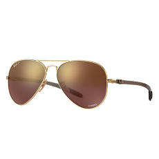 Ray-Ban RB8317CH 001/6B SHINY GOLD PURPLE MIRROR GOLD GRADIENT POLAR napszemüveg