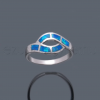 Opál gyűrű dupla hullám K