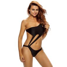 Csakcsajok Fekete Egyrészes Kivágott Bikini-Medium