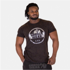 ROCKLIN T-SHIRT - BLACK/BROWN/SILVER (BLACK) [5XL]