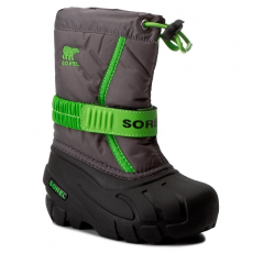 SOREL Hótaposó SOREL - Childrens Flurry NC1885-052 Quarry/Cyber Green