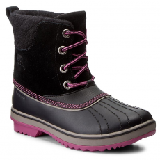 SOREL Hótaposó SOREL - Youth Slimpack II Lace NY2416-011 Black/Kettle
