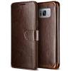 VERUS VRS Design (VERUS) Samsung Galaxy S8 Dandy Layered mágneses oldalra nyíló bőr tok, sötétbarna