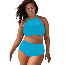 Csakcsajok Égkék hálós plus size bikini