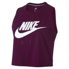 Nike Crop Air női trikó, Berry/White, XL (865894-665-XL)