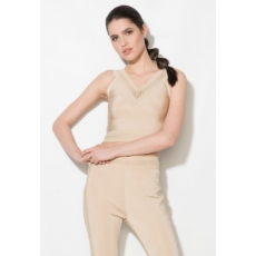 Zee Lane Denim Bézs Bodycon Crop Top Perforált Betétekkel M (ZL17S-2261-BEIGE-M)